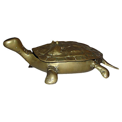 Brass Turtle Dish