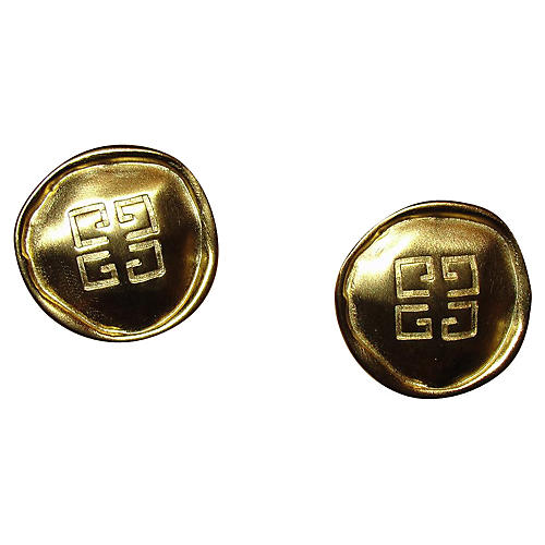 Givenchy Monogram Coin Earrings