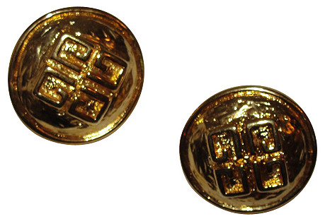Givenchy 3D Abstract Monogram Earrings