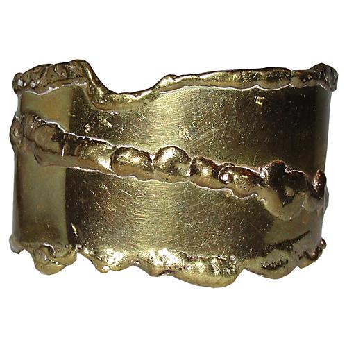 Brutalist Brass Cuff