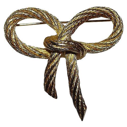 Christian Dior Rope Bow Pin