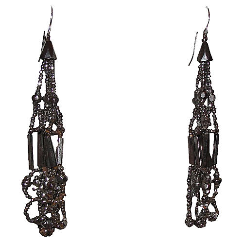 Victorian Bead Drop Earrings