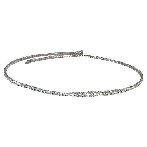 18K Gold Eternity Diamond Necklace