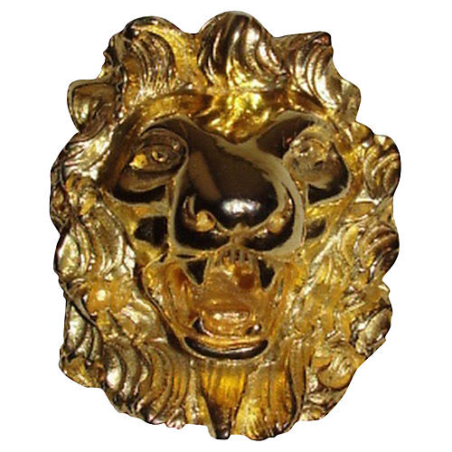 Judith Leiber Lion Pin Necklace