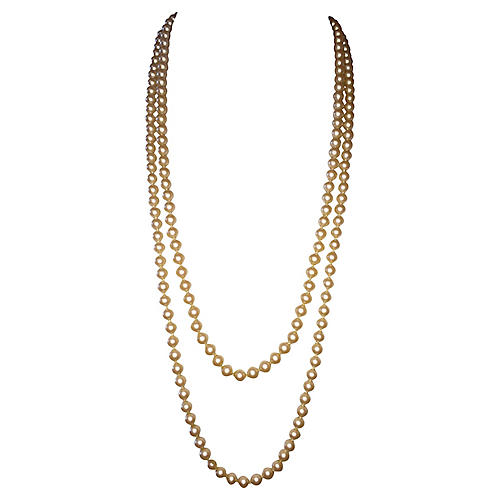Givenchy Double-Strand Pearl Necklace