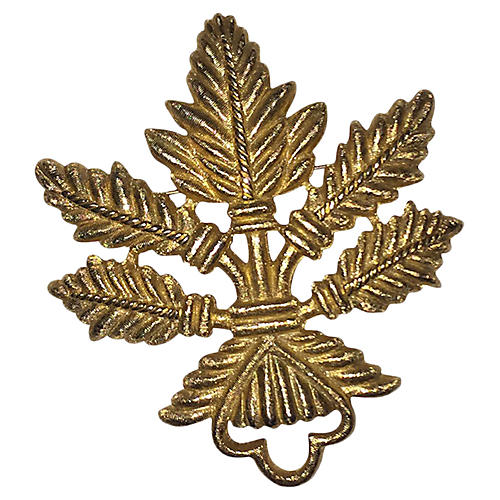 Etruscan-Style Givenchy Leaf Pin
