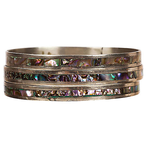 Mexican Abalone Shell Bangles, S/3