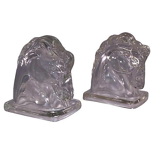 Art Deco Federal Horse Head Bookends