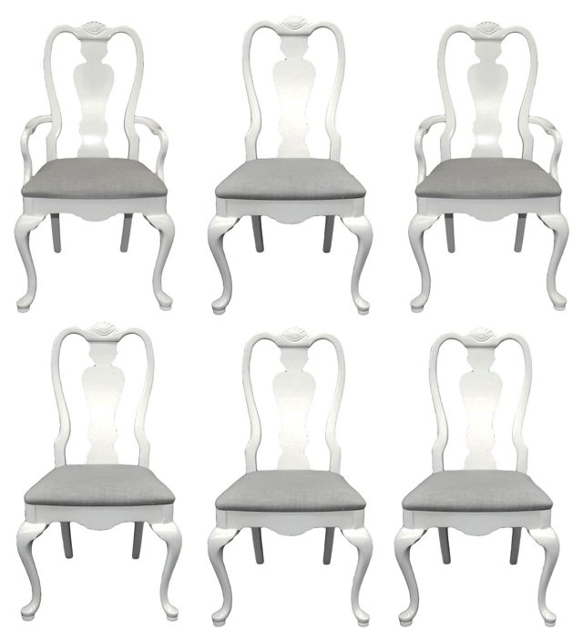 Dorothy Draper-Style Chairs, S/6