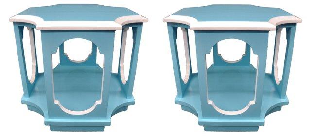 Geometric Side Tables, Pair