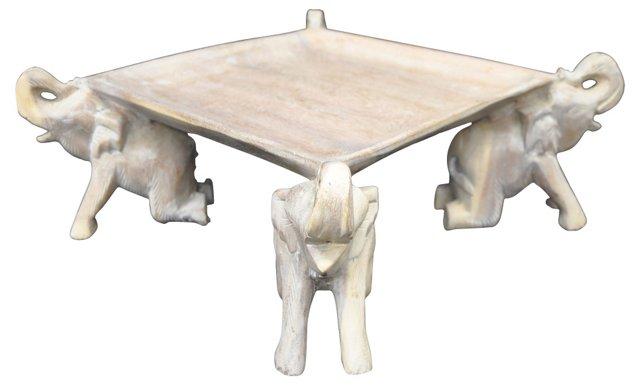 Wooden Elephant Tray