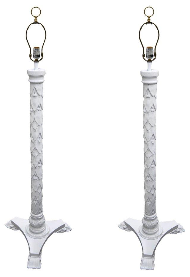 Dorothy Draper-Style Floor Lamps, Pair