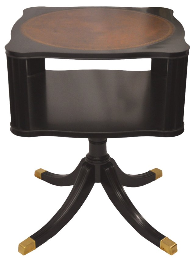 Leather-Top Parlor Table