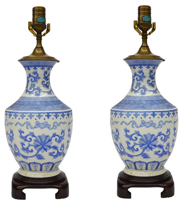 Chinoiserie Lamps by Wildwood, Pair