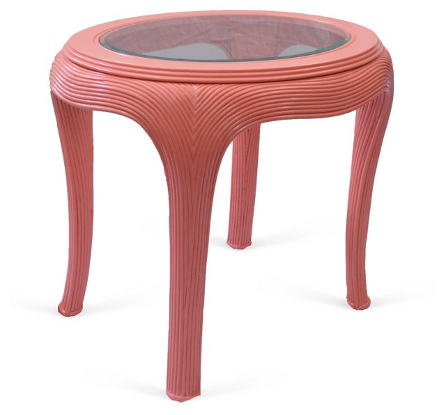 Serge Roche-Style Round Side Table