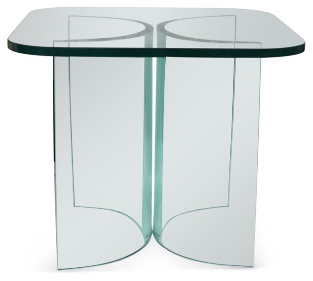 Glass Side Table by Fiam