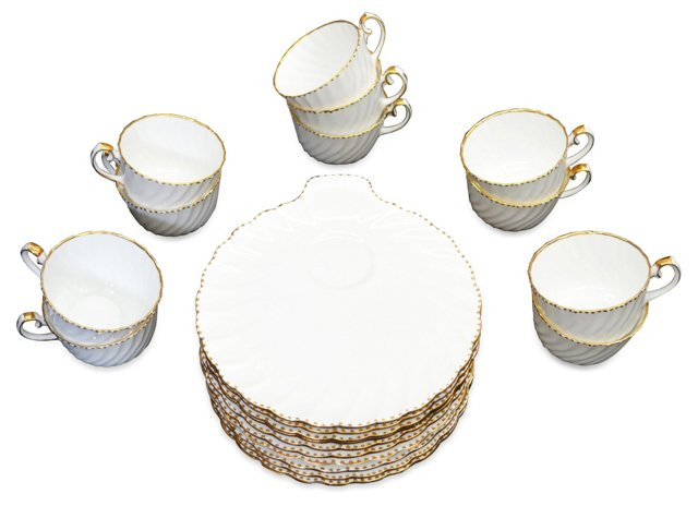 English China Snack Set, Svc. for 11