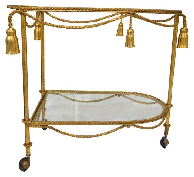 Rope & Tassel-Motif  Tea Cart