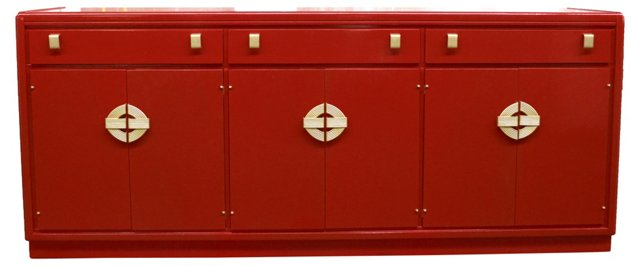 Lacquered Asian-Style Buffet by Hickory