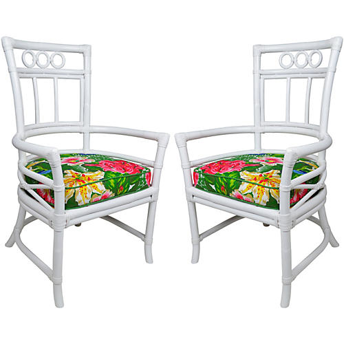 Ficks Reed D. Draper Armchairs, Pair