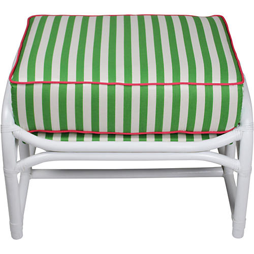 Ficks Reed Green Lilly Ottoman