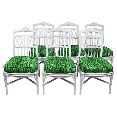 Ficks Reed Shell Chairs, S/6
