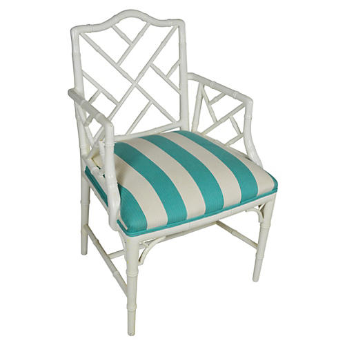 Faux-Bamboo Chippendale Armchair