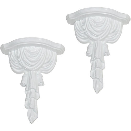 Swag & Tassel Wall Bracket,Pair