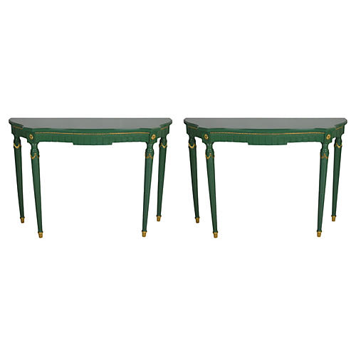 Neoclassical Console Tables, Pair