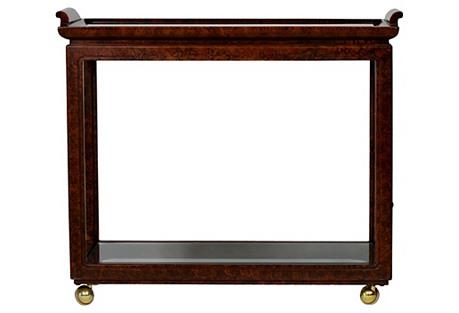 Faux-Tortoise Bar Cart