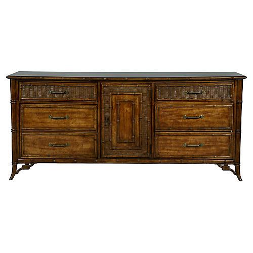 Faux-Bamboo Dresser