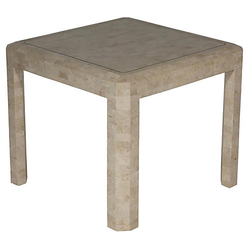 Maitland-Smith Tessellated Side Table