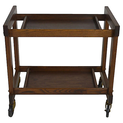 Midcentury Bar Cart w/ Removable Tray
