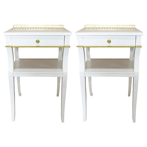 Neoclassical-Style Nightstands, S/2