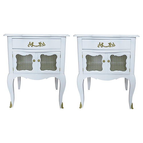 French-Style Nightstands, S/2