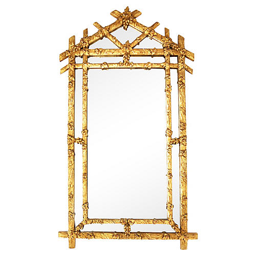 Gilded Faux-Bois Mirror