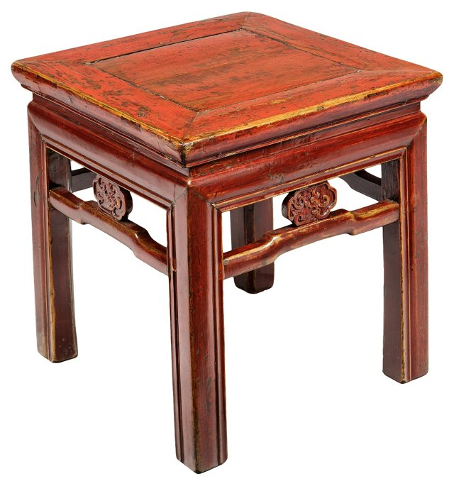 Mid-19th-C. Carved Side Table
