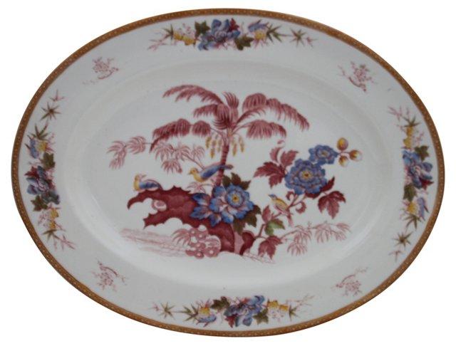 English Transferware Bird Platter