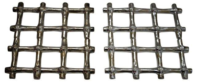 Silverplate Trivets, Pair