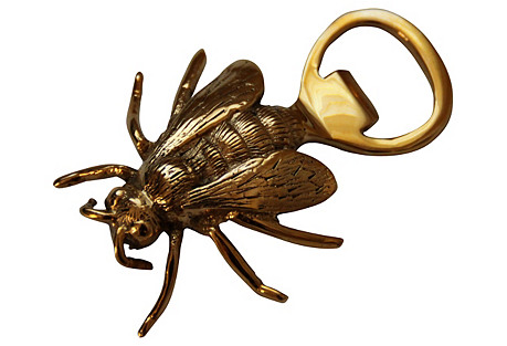 Brass Bee Bottle Opener
