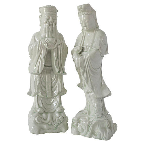 Chinese Statues, Pair