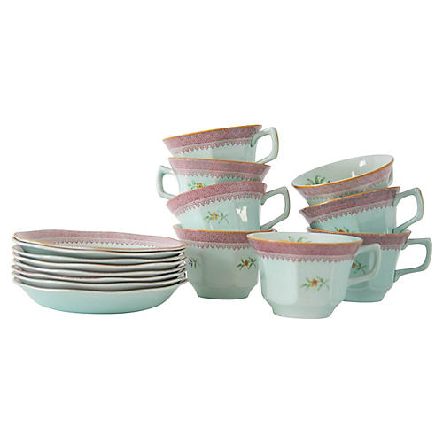 Teacups & Saucers, 16 Pcs