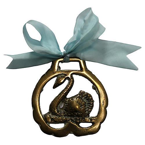 Brass Swan Ornament