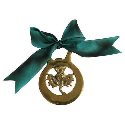 Vintage Brass Scottish Thistle Ornament