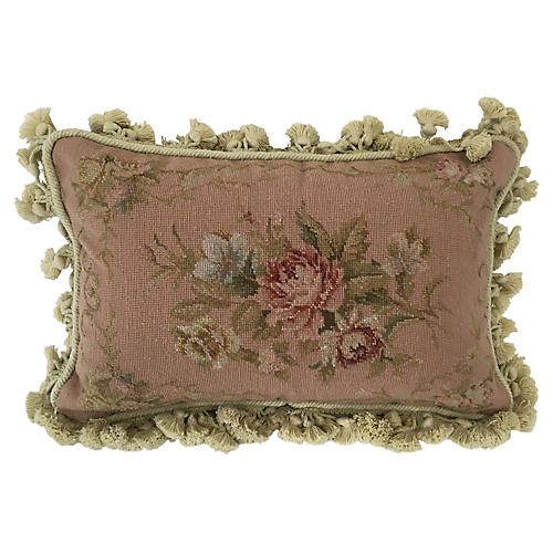 French-Style Needlepoint Pillow