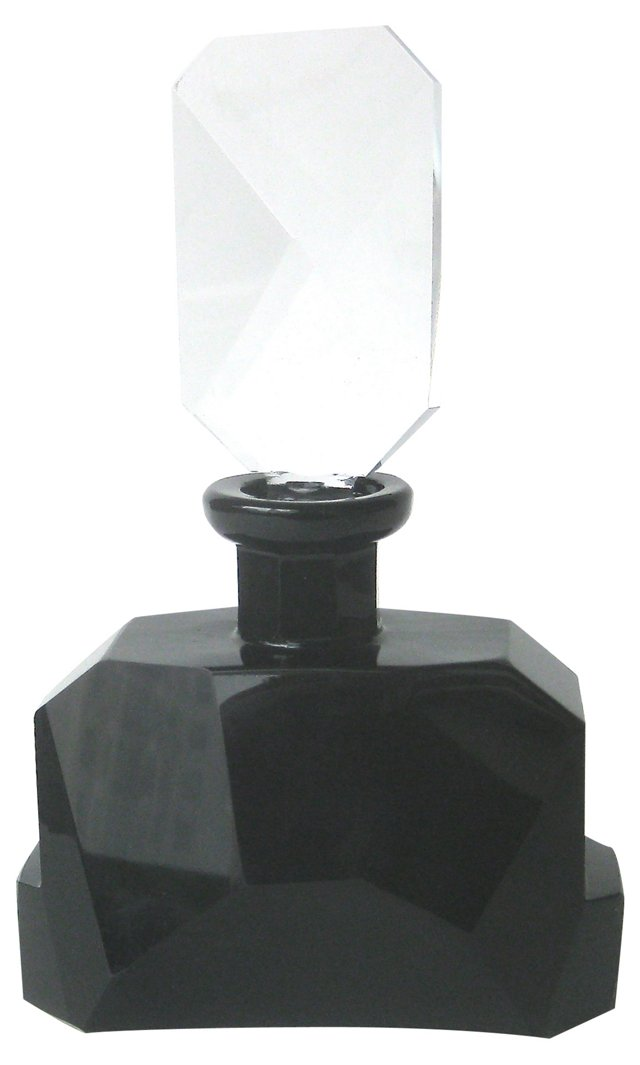 Art Deco-Style Glass Perfume Bottle
