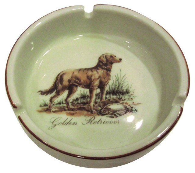 Golden Retriever Ashtray