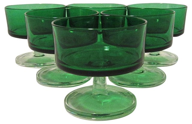 French Sherbet Dishes, S/6