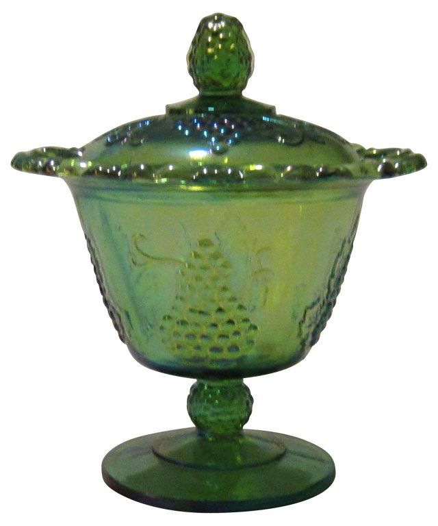 Carnival Glass Candy Dish