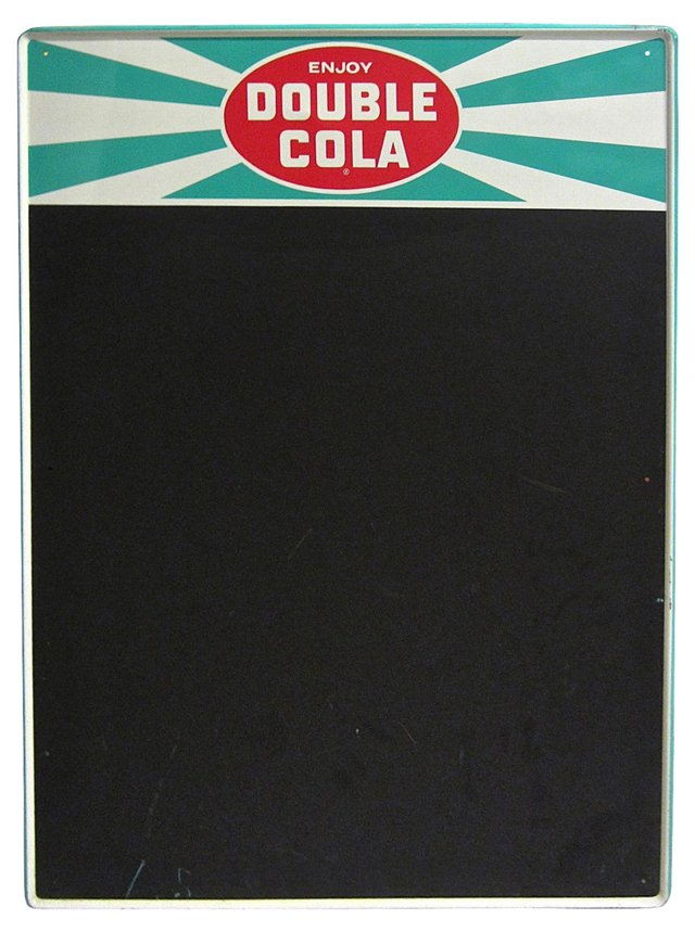 Double Cola Menu Board Sign